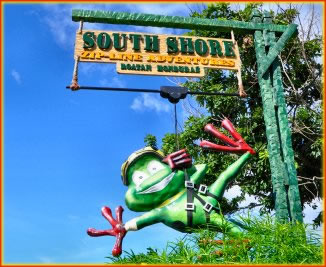 South Shore Canopy Tours is located on the South West tip of Roatan Island